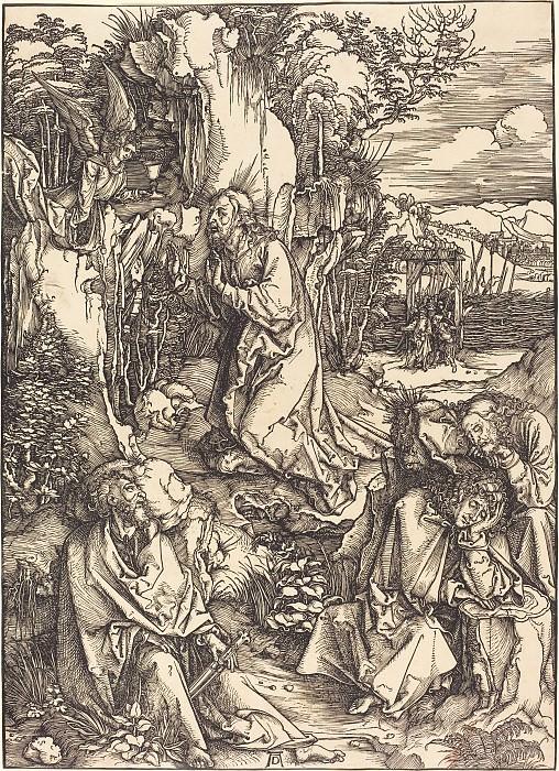 Christ in the Garden of Gethsemane. Durer Engravings