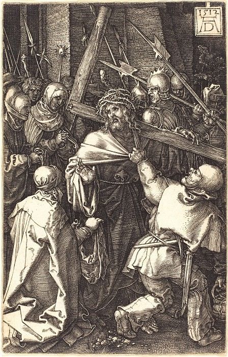 Carrying the Cross. Durer Engravings