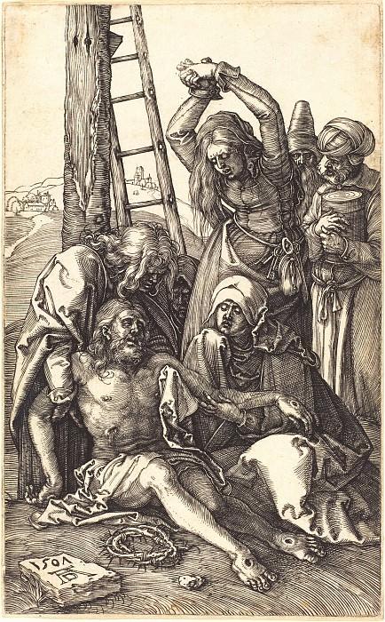 Lamentation of Christ. Durer Engravings