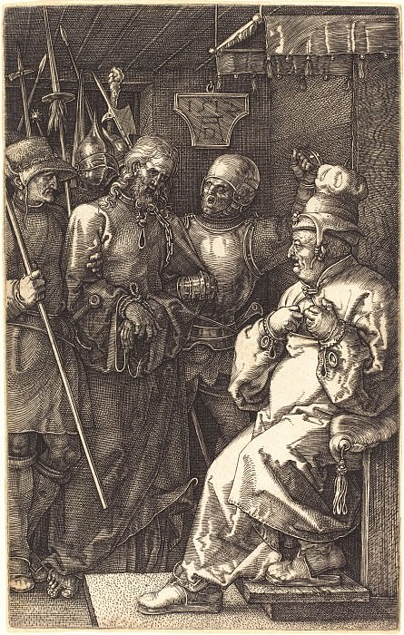 Christ before Caiaphas. Durer Engravings