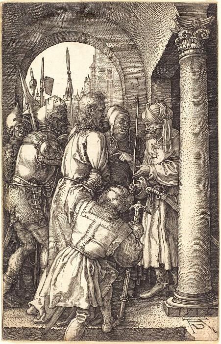 Christ before Pilate. Durer Engravings