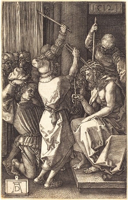 Christ Crowned with Thorns. Durer Engravings