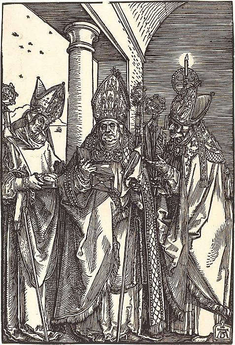 St. Nicholas, Ulrich and Erasmus. Durer Engravings