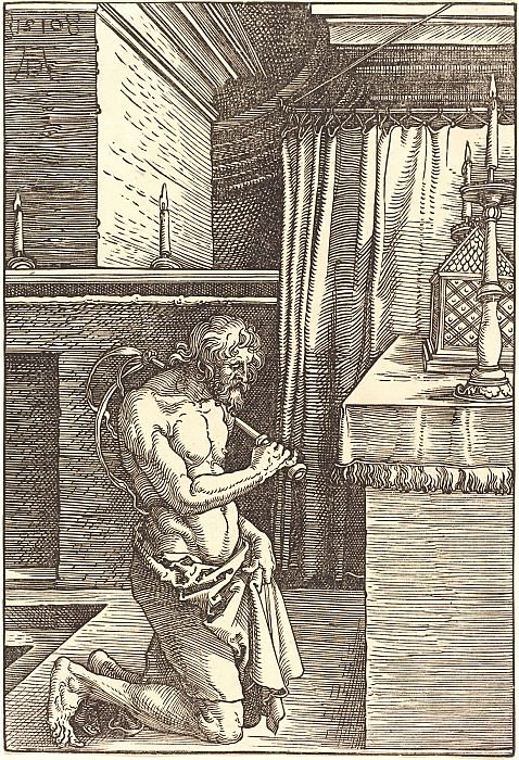 Penitent King David. Durer Engravings