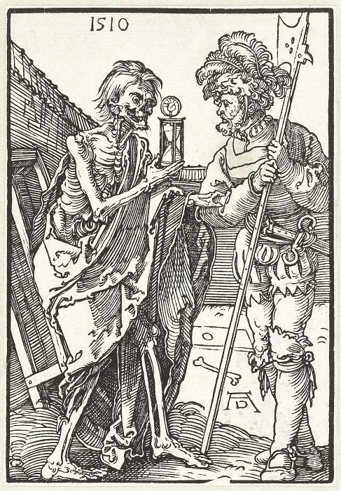 Soldier and Death. Durer Engravings