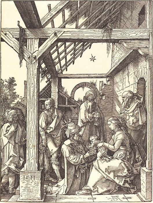 Adoration of the Magi. Durer Engravings