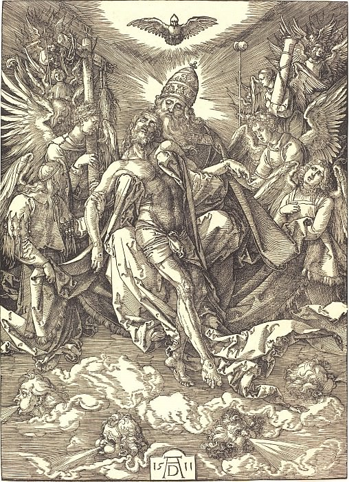 The Holy Trinity. Durer Engravings