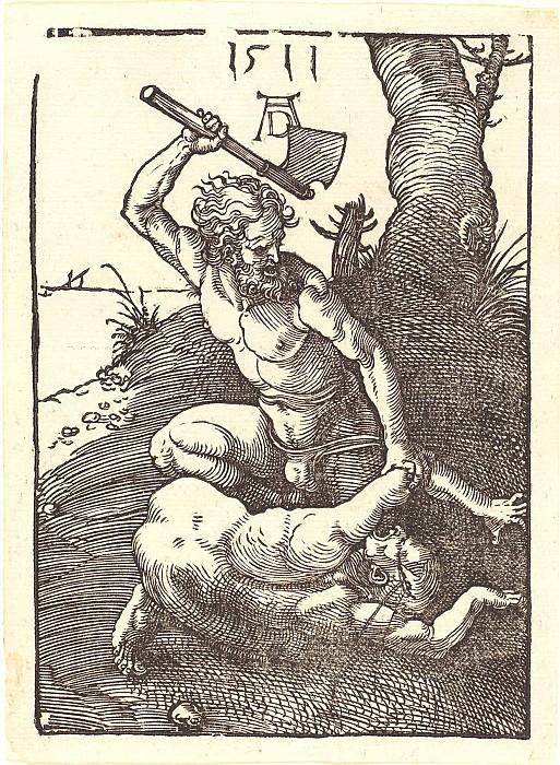 Cain killing Abel. Durer Engravings