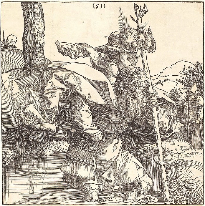 Saint Christopher. Durer Engravings