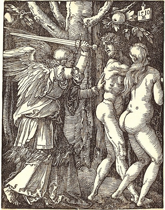 Expulsion from Paradise. Durer Engravings