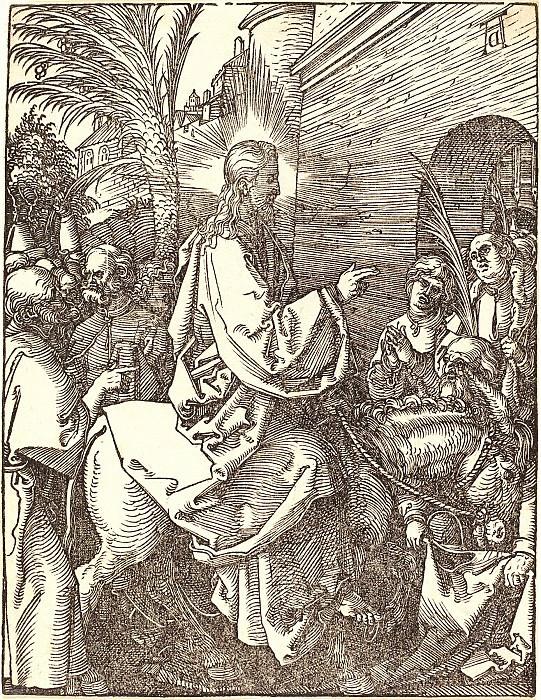 Вход Господень в Иерусалим. Гравюры Дюрера
