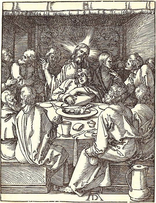 Lord's Supper. Durer Engravings