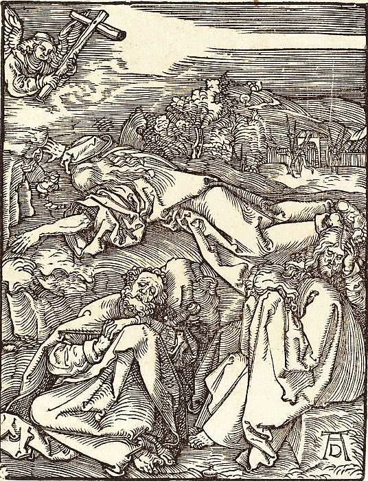 Christ on the Mount of Olives. Durer Engravings