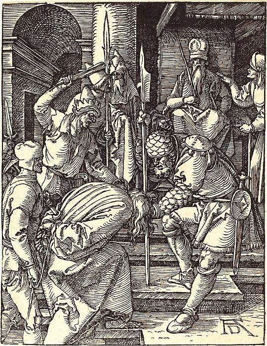 Christ before Annas. Durer Engravings
