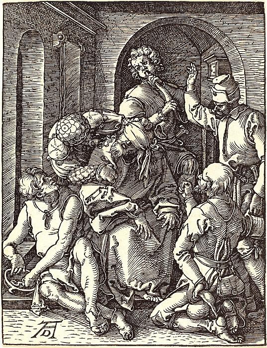 Mocking of Christ. Durer Engravings