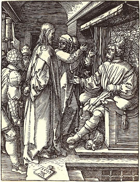 Христос перед Иродом. Гравюры Дюрера