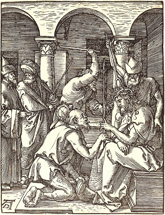 Crowning with thorns. Durer Engravings
