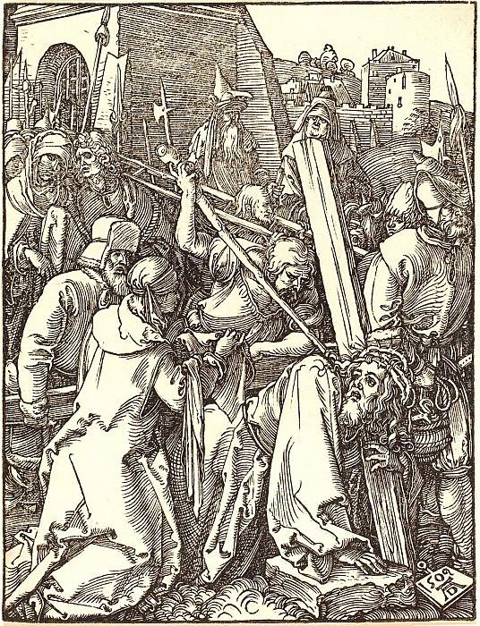 Carrying the Cross. Durer Engravings