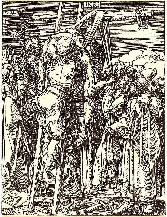 Descent from the Cross. Durer Engravings