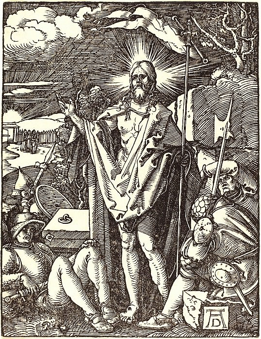 Resurrection. Durer Engravings