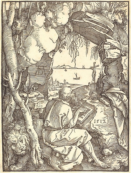 Saint Jerome in the cave. Durer Engravings