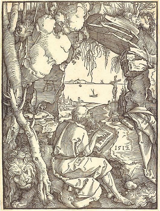 Святой Иероним в пещере. Гравюры Дюрера