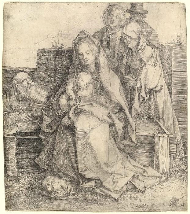 Святой семейство со свв Иоанном, Магдалиной и Никодимом. Гравюры Дюрера