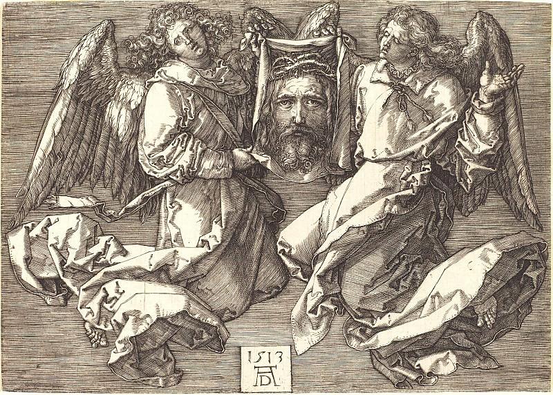 Сударь, показываемый двумя ангелами. Гравюры Дюрера