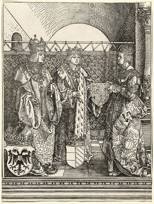 Engagement of Philip the Fair Jeanne Castile. Durer Engravings