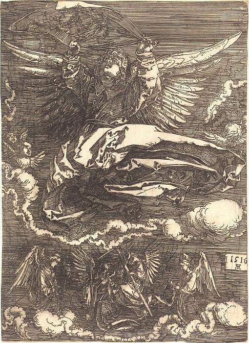 Sir, held one angel. Durer Engravings