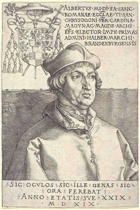 Кардинал Альбрехт Бранденбургский (Small Cardinal). Гравюры Дюрера