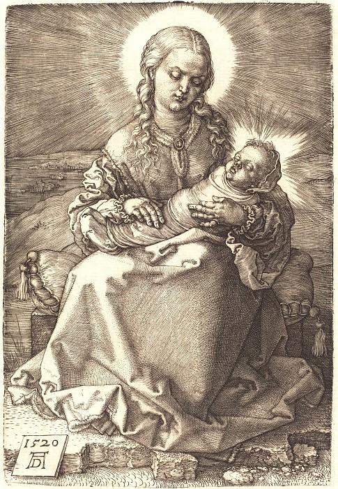 Мадонна со спеленатым Младенцем. Гравюры Дюрера