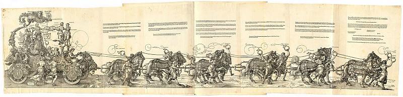 Триумфальная колесница Максимилиана I. Гравюры Дюрера