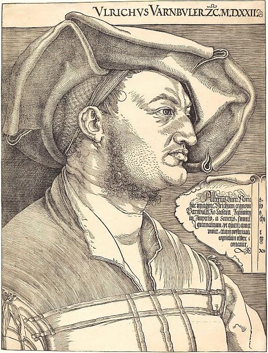 Ulrich Varnbyuler, Imperial Advisor (each Dürer). Durer Engravings