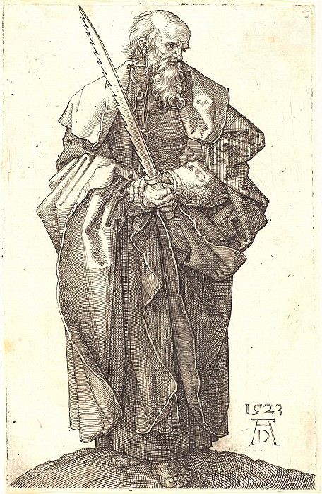 The Holy Apostle Simon. Durer Engravings