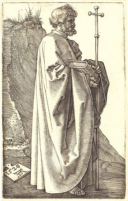 The Holy Apostle Philip. Durer Engravings