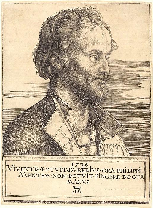Philipp Melanchthon. Durer Engravings