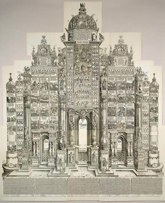 The Triumphal Arch of Maximilian. Durer Engravings