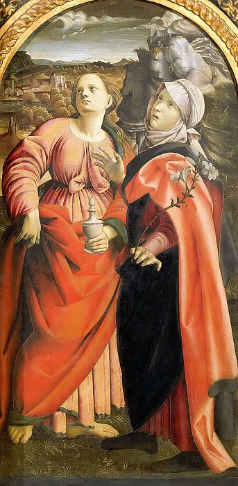 Saints Magdalene and Scholastica. Cola dell'Amatrice (Nicola Filotesio)