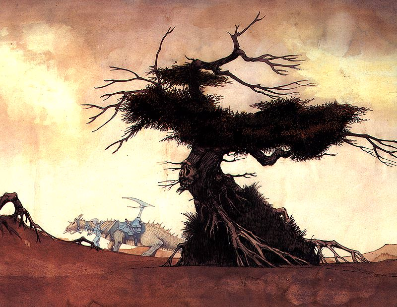 Dragon and Tree. Roger Dean