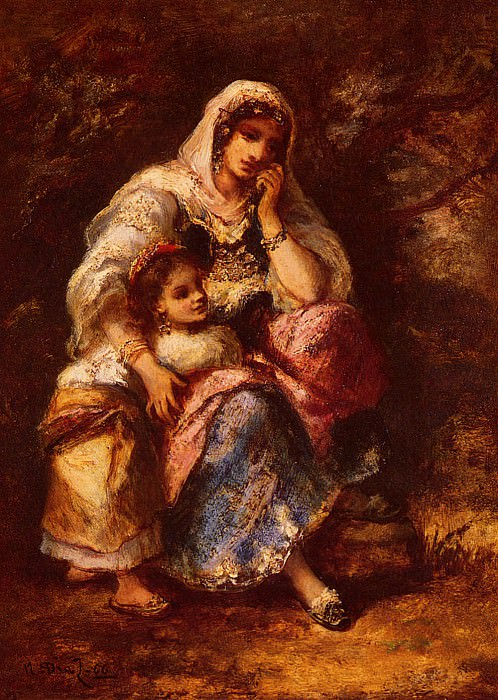 Gypsy Mother And Child. De La Pena Narcisse Virgile Diaz