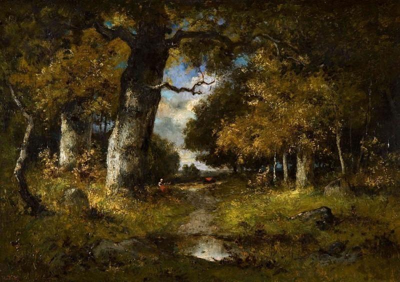Лесной пейзаж. Нарсис Виргилио Диас де ла Пенья