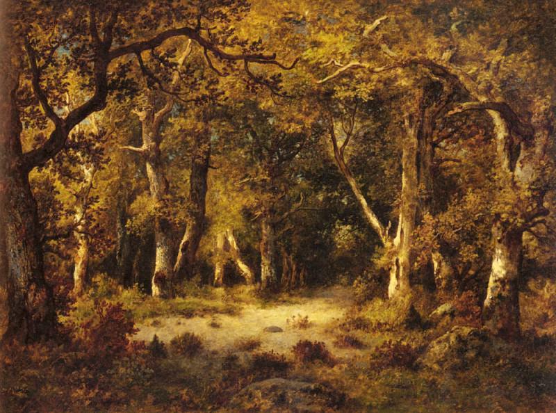 En Foret De Fontainebleau. De La Pena Narcisse Virgile Diaz