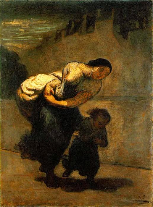 Burden, c. 1850-53 Oil on canvas, 130 x 98 cm The. Honore Daumier