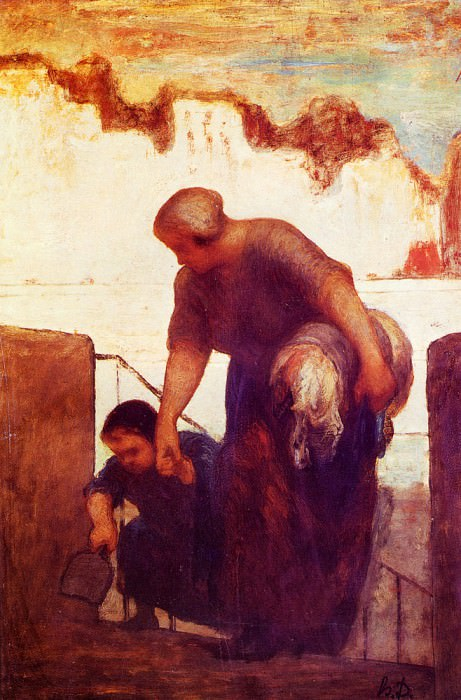 The Laundress. Honore Daumier