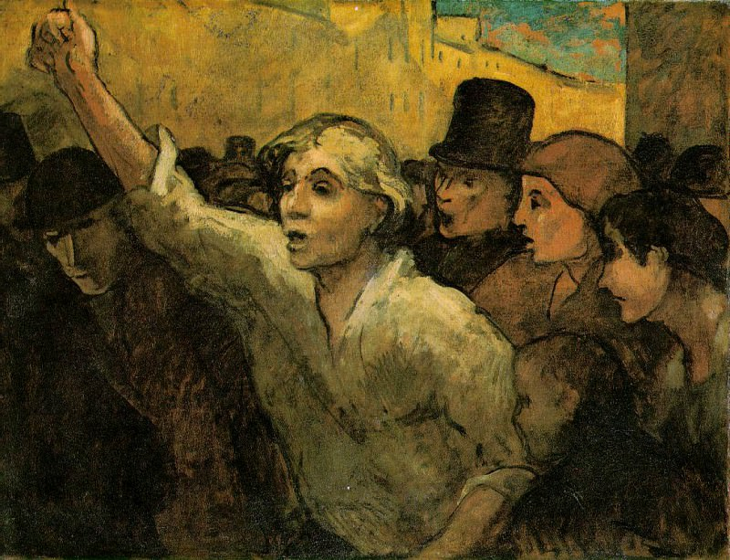 The uprising, ca 1860, 87.6x113 cm, The Phillips Col. Honore Daumier