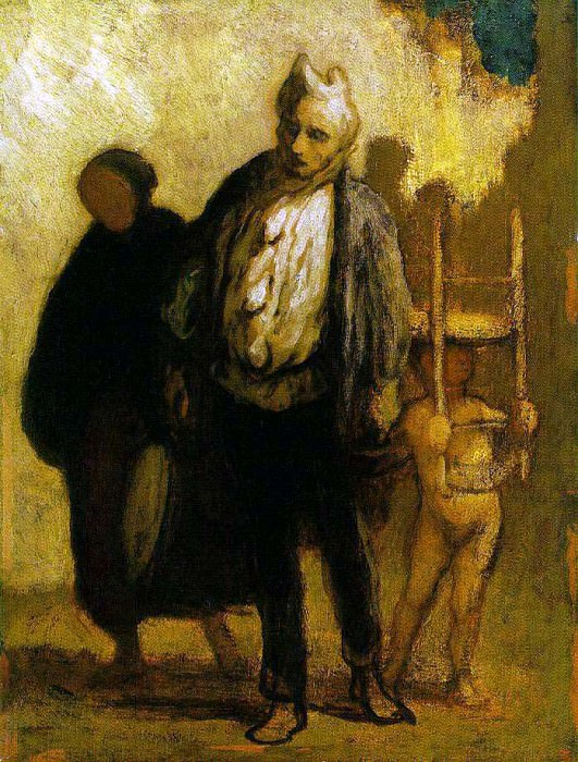 Honore Wandering Saltimbanques. Honore Daumier