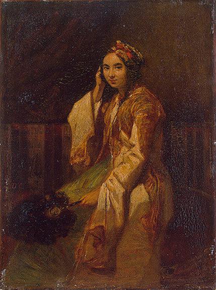 Женщина в восточном одеянии. Александр-Габриэль Декан