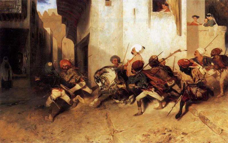 The Turkish Patrol. Alexandre-Gabriel Decamps