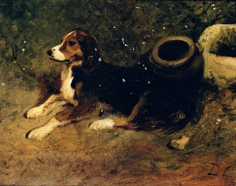 Лежащая собака. Александр-Габриэль Декан